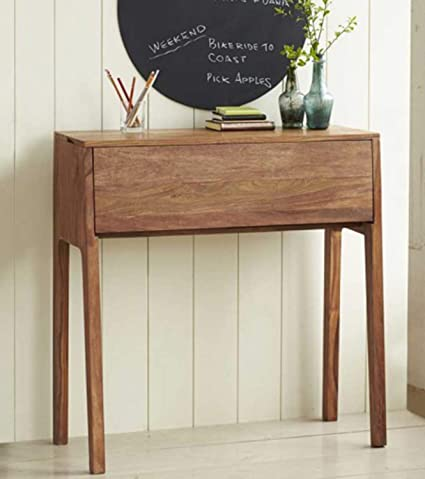 Thd The Home Dekor Magma Solid Wood Study Table With Closed