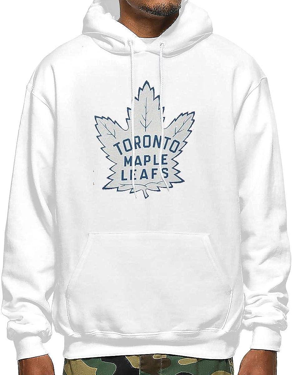 Hockey-Logo-Toronto-Maple-Leafs Men Casual Pullover Hoodie Long Sleeve Sport Sweatshirt Black