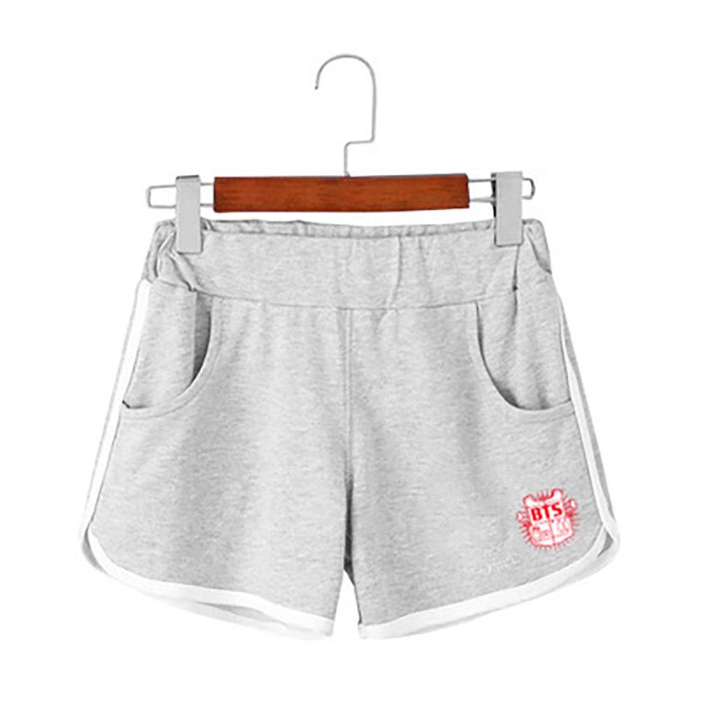 Kpop BTS BT21 Cartoon Short Pants Fans Pullover Hip Hop Short Pants for Men Women Teen