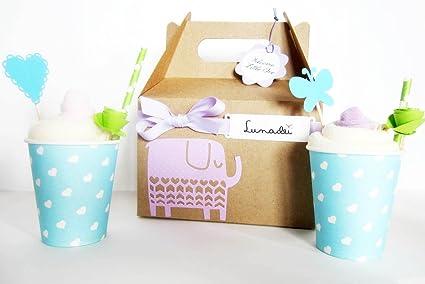 Idea Regalo Original para Recién Nacidos | Caja con Dos Helados (2 Baberos TOMMEE TIPPEE