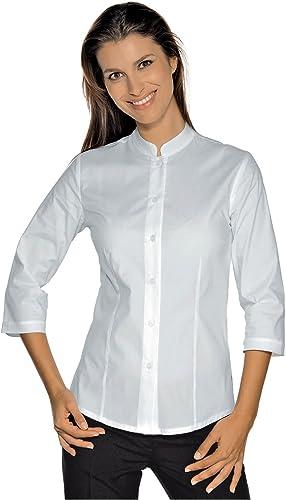 Isacco Cuello-Mao-Camisa Ajustada de Manga 3/4, Color Blanco: Amazon.es: Ropa y accesorios