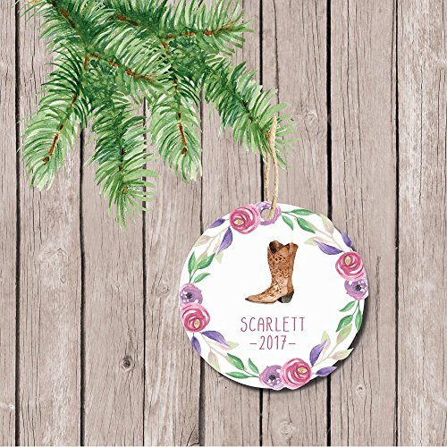 Childs Fifth Christmas Ornament - Christmas Ornament Girl