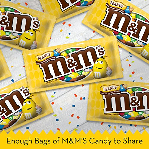 M&M'S Peanut Chocolate Candy Singles ,1.74 Ounce (Pack of 48)