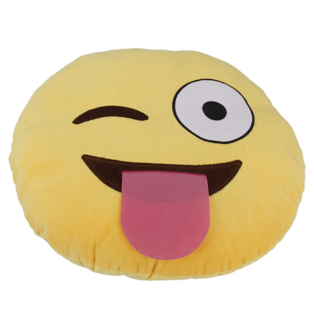 Amazon.com: 1 x ciamlir suave Emoticono Amarillo Cojín ...