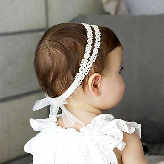 les filles ruban de nylon bébé bandeau des accessoires pour cheveux pearl fleur