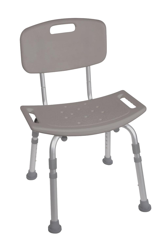 Amazon.com: Lumex Bath Seat With Back Standard Gray: Health ...