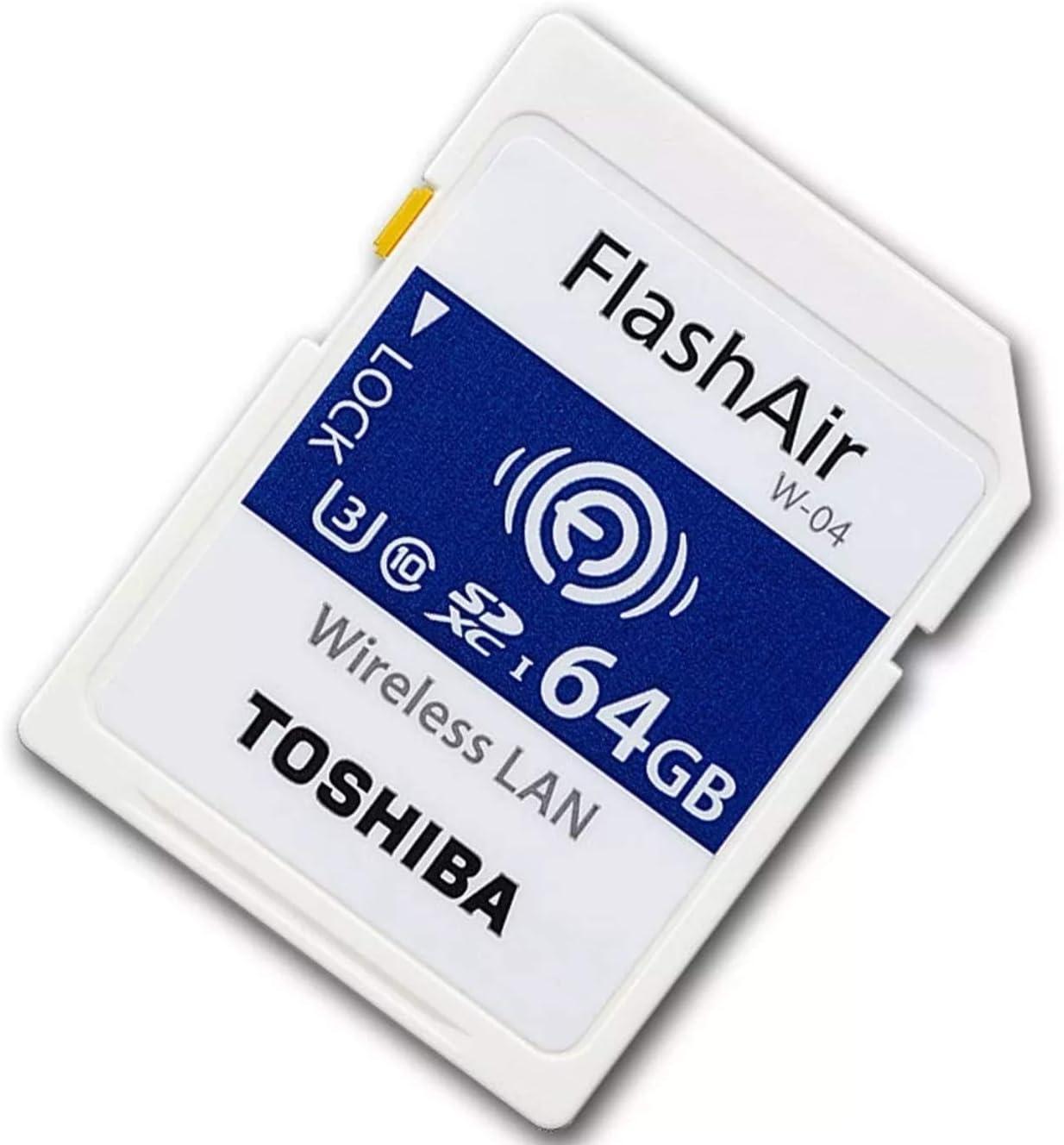 Toshiba 64GB SDXC de SecureDigital Memory tarjeta inalámbrica Wifi FlashAir W-04