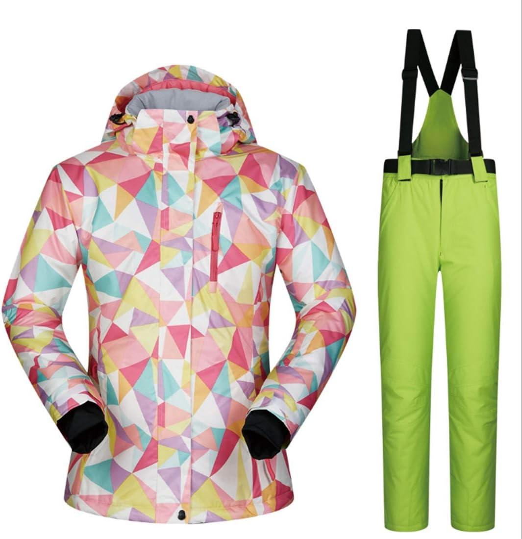 ALICESHOP 女性用スキー ジャケット高防風防水技術スノージャケット(S-XL) (色 : 06, サイズ : XL)  X-Large