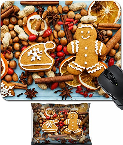 - MSD Mouse Wrist Rest and Small Mousepad Set, 2pc Wrist Support design 33412526 Christmas background nuts dried oranges spices and gingerbread cookies Viewed from above