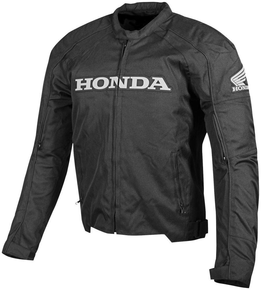 Honda Mens Supersport Textile Street Motorcycle Jacket, Black, Medium