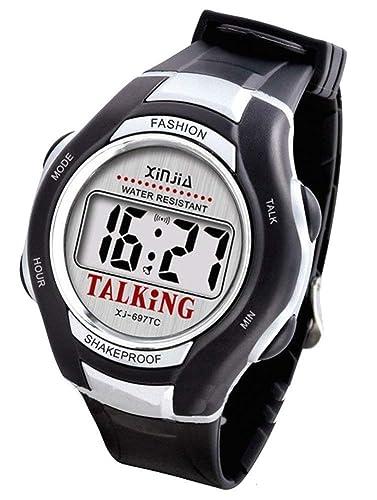 CursOnline® Reloj de pulsera parlante de lingua italiana Ed instrucciones in italiano. confezionato de