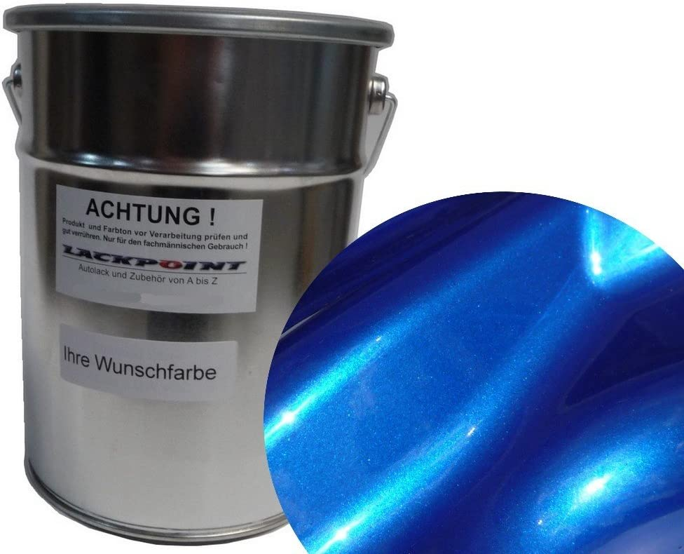 Lackpoint 0 5 Liter Spritzfertigen Basislack Candy Blau 2 Metallic Autolack Auto