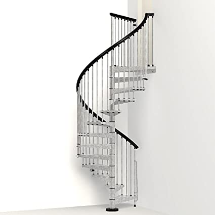 Amazing Arke Enduro 55u0026quot; Diameter Hot Dipped Galvanized Steel Outdoor Spiral Staircase  Kit (115