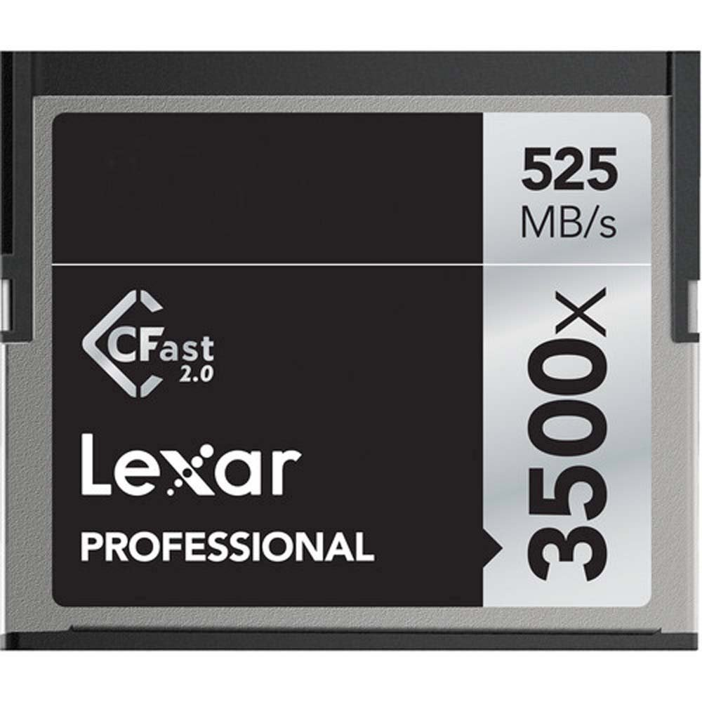 Lexar 64GB Professional 3500x CFast 2.0 Memory Card for 4K Video Cameras, Up to 525MB/s Read, Up to 445MB/s Write Speed