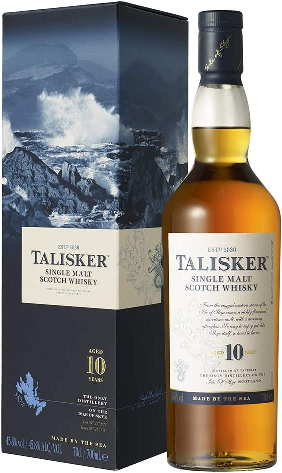 talisker 10 anni single malt scotch whisky astucciato - 700 ml 6-ta-013-46