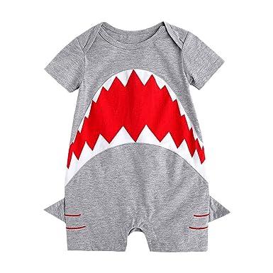 Anywow S/äugling Baby M/ädchen Jungen Buchstaben Gedruckt Strampler Baumwolle Kurze /Ärmel Body Onesie Overall Spielanzug