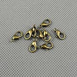 45 PCS Jewelry Making Charms Findings Supply Supplies Crafting Lots Bulk Wholesale Antique Bronze Tone Plated 68690 Chain Lobster Clasps