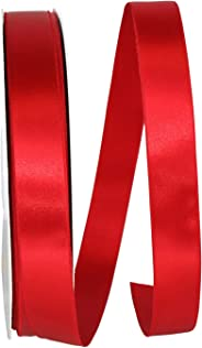 Reliant Ribbon 5000-065-05C Double Face Satin Allure Dfs Ribbon, 7/8 Inch X 100 Yards, Red