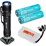 Olight S30R Baton III 1050 Lumen Rechargeable LED Flashlight, Two High Capacity batteries, Charging Dock, LumenTac…