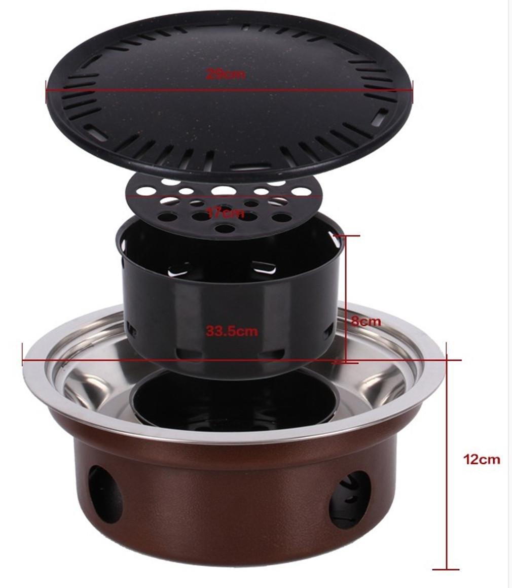 BBQER-A Montieren Sie tragbare Kohle Grill Grill Dual Purpose Familie Tabelle mit und Partei.
