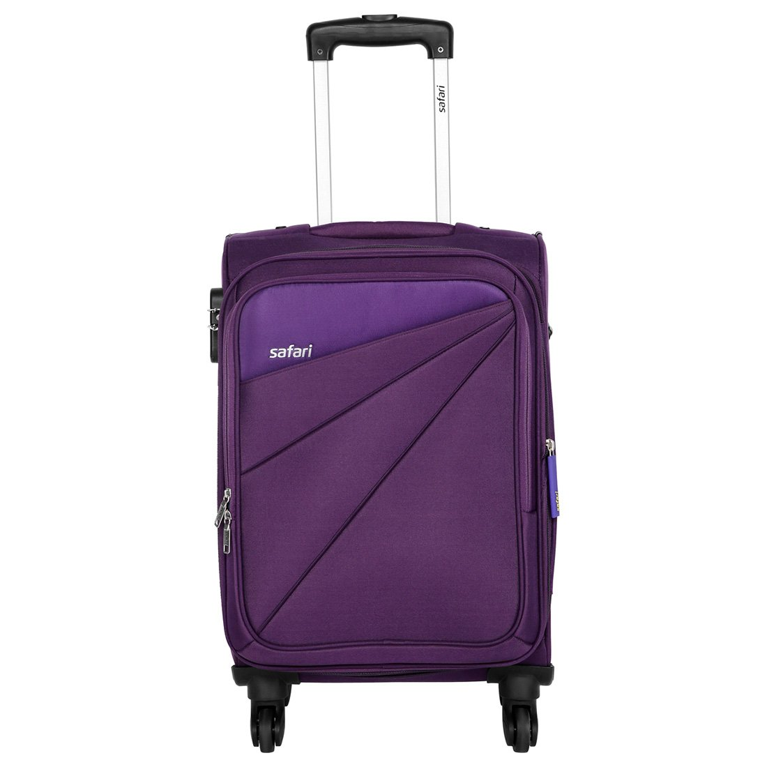 Safari Fabric 58 cms Purple Soft Sided Carry-On (Mimik 4W 58 EC Purple)