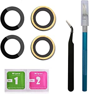 2 Pack OEM Original Back Rear Camera Glass Lens Replacement for iPhone 7/ iPhone8 4.7 inches with Adhesive and Repair Toolkit