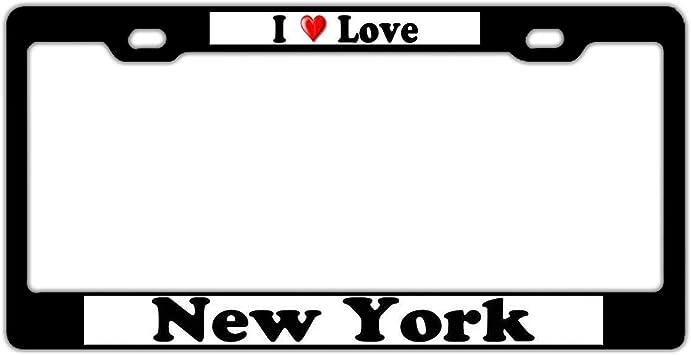 I Love New York City License Plate Frame Tag Holder