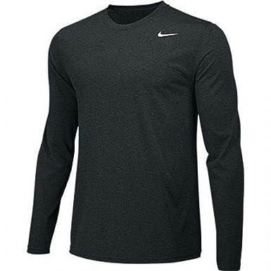 ba005682 NIKE Boys Legend Long Sleeve Athletic T-Shirt (Black, Youth Medium)