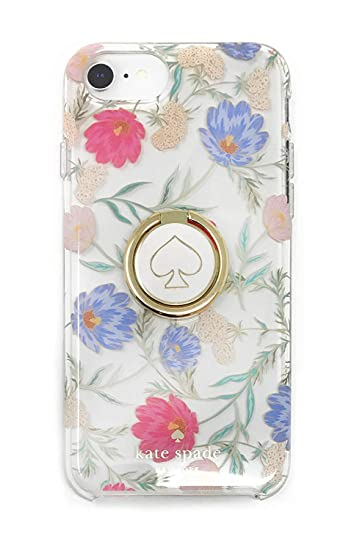 premium selection e9260 d89b0 Kate Spade Hybrid Case & Attachable Ring Stand iPhone 8/7/6s - Clear/Flowers