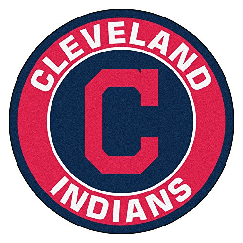 FANMATS 18133 MLB Cleveland Indians Roundel Mat (Cleveland Indians Mlb Floor Mats)