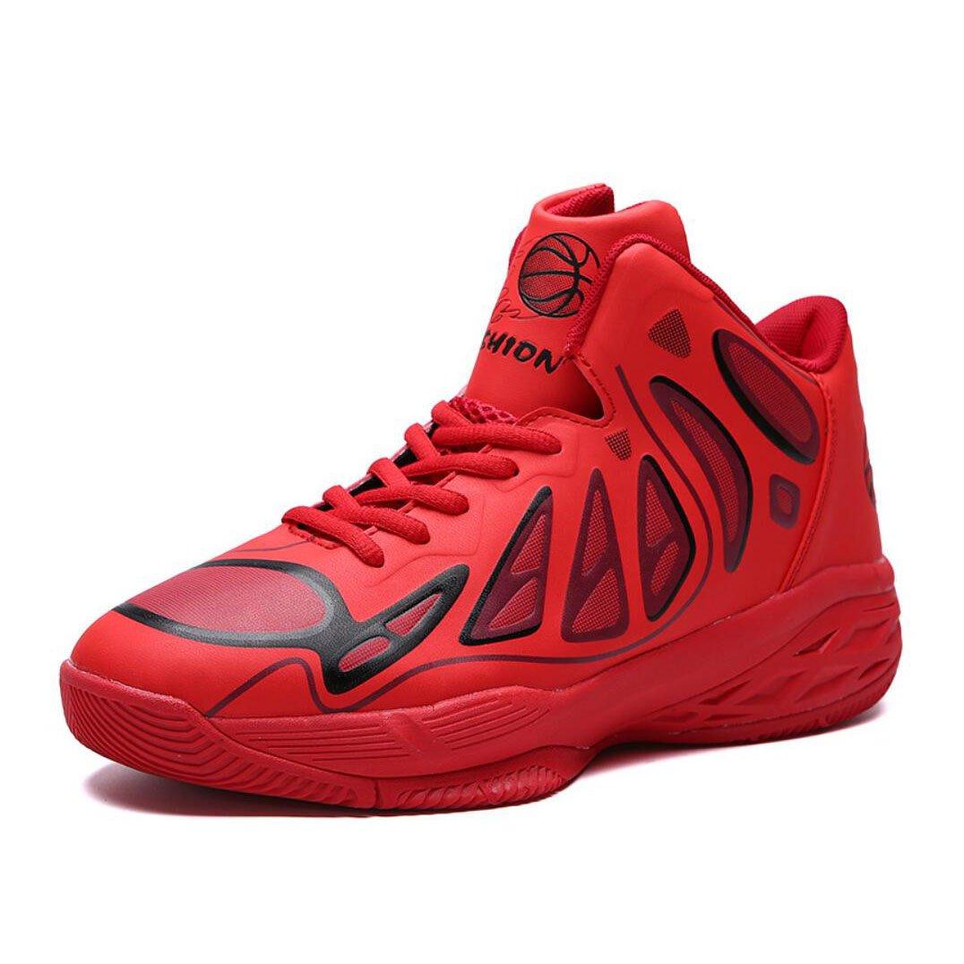 New Zapatillas de Deporte para Hombre 2018 Four Seasons New Mens Zapatillas de Deporte al Aire Libre Zapatillas de Alto auxilio con Balón Botas Cortas de Vestir EU Size 42 EU|Rojo