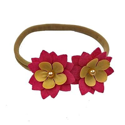 TATGB Baby Girls Headband Floral Elastic Hairband Photography Props 10 sets
