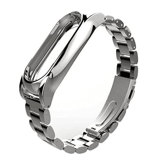 VESNIBA Magnet Stainless Steel Luxury Wrist Strap Metal Wristband 14-21CM  For Xiaomi Mi Band 2
