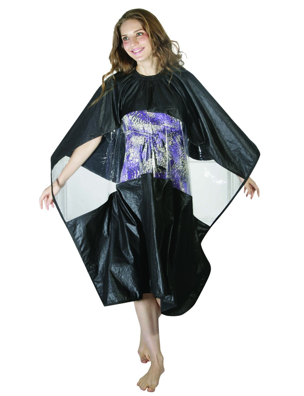 XMW Durable Water Repellent Salon Cape With Observation Window Black02