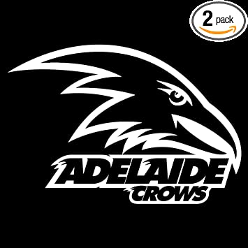 Afl adelaide crows logo icon white set of 2 silhouette stencil