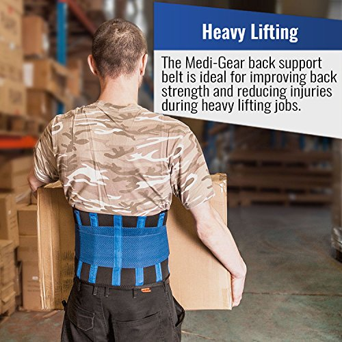 Iron Bull Strength Medi-Gear Back Brace - Lumbar Support Belt for Lower Back Pain - Posture Corrector and Stabilizer with Dual Adjustable Straps (Medium) by Iron Bull Strength (Image #4)
