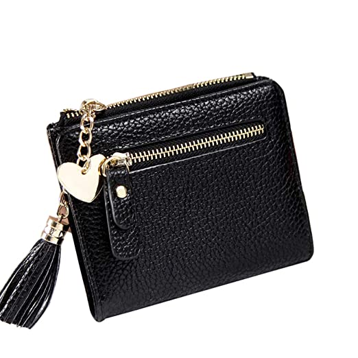b2690e73bd4 Amazon.com: DSDY Female Super Thin Tassel Women Wallet Leather ...