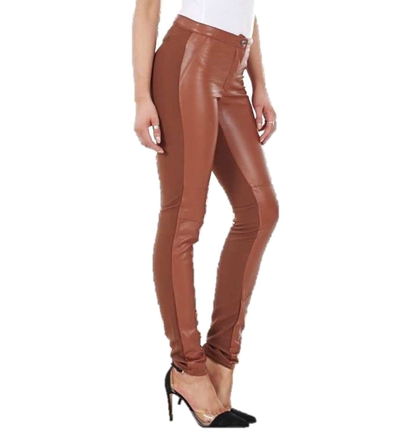 f060129c15412 Ex H&M Ladies Leather Look & Cloth Leggings Womens Wet Look Trousers Pants:  Amazon.co.uk: Clothing