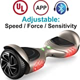"TOMOLOO Hoverboard with LED Light Two-wheel Self Balancing Scooter with UL2272 Certified, 6.5"" Wheel Electric Scooter for Kids and Adult"