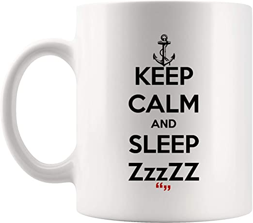 com sleep sleeping relax dream bed coffee cup funny mug