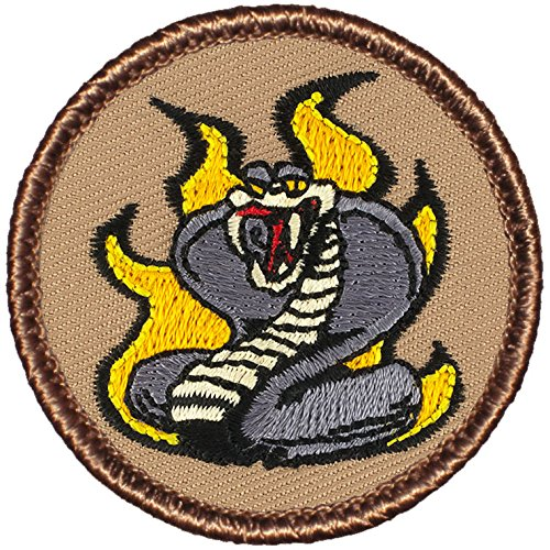 """Flaming Cobras Patrol Patch - 2"""" Round - FREE SHIPPING!"""