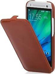 StilGut UltraSlim Case, Custodia in Vera Pelle per HTC One Mini 2, Cognac