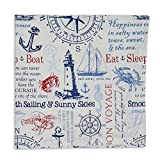 Heart of America Maritime Printed Napkin - 6 Pieces