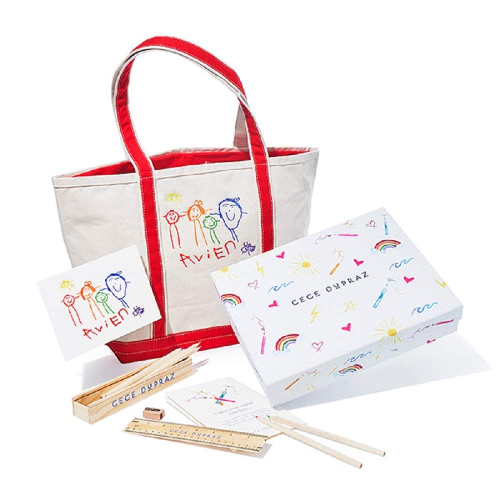 Cece DuPraz Children's Custom Artwork Tote Bag Gift Set