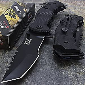 "9"" M-Tech G10 Tracker Spring Assisted Open Folding Pocket Outdor Knife Tactical Rescue Combat"