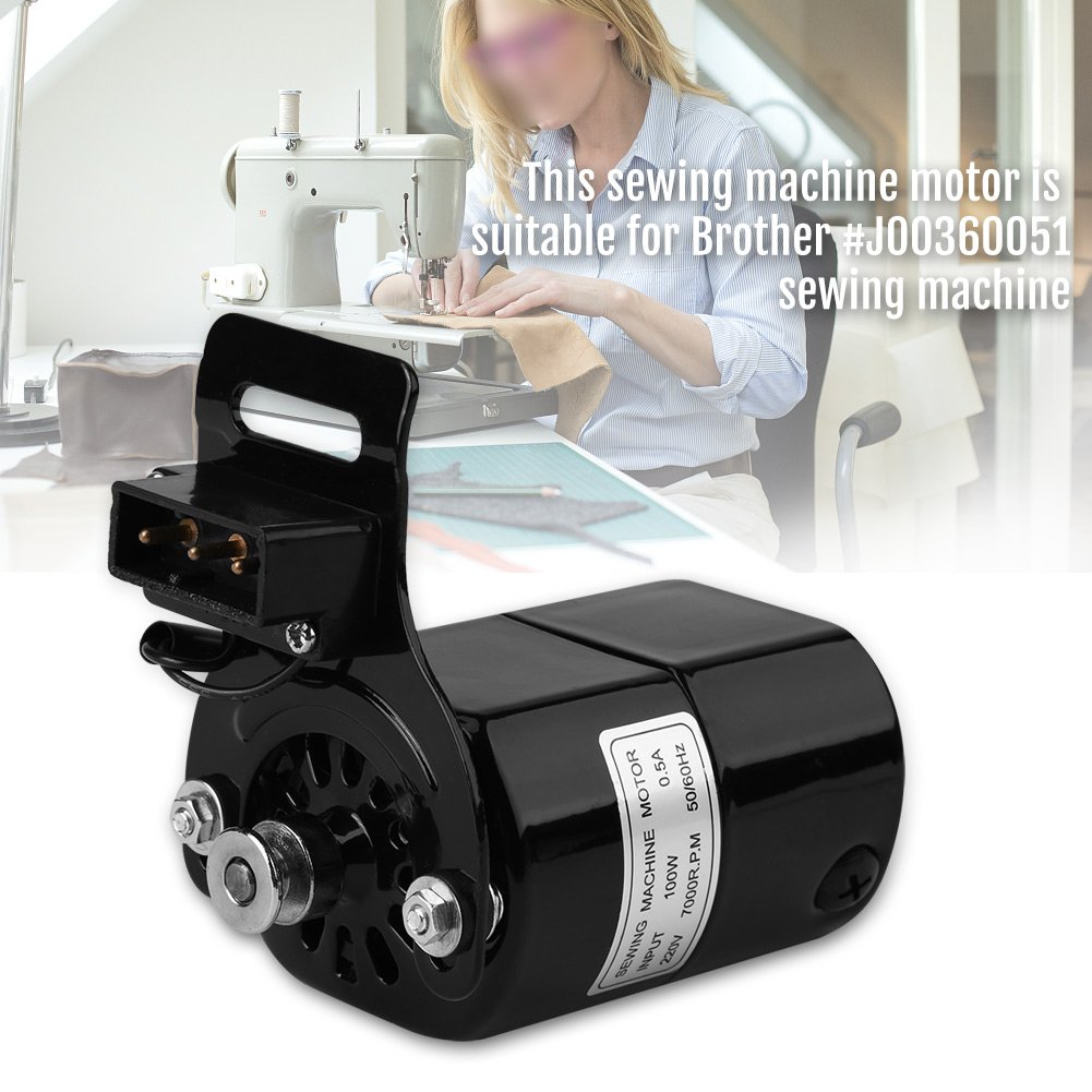 Motor para Máquina de Coser Motor K-soporte 0.5 AMP para Brother # J00360051 Motor de 220V 100W para Máquina de Coser: Amazon.es: Bricolaje y herramientas