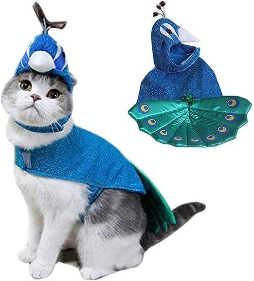 BABYSq Disfraces De Mascotas, De Lujo Azul Pavo Real De Halloween ...