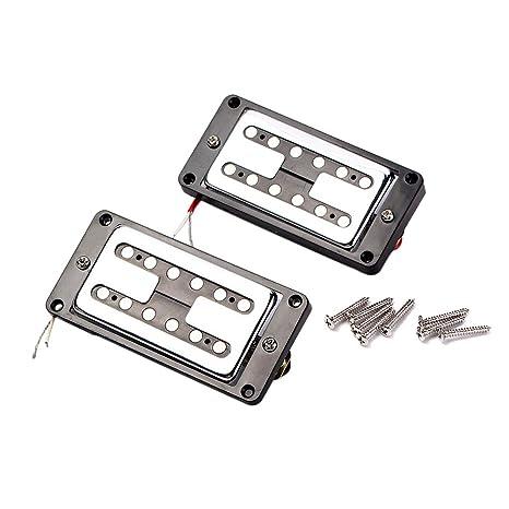 SUPVOX 2 unids GMC15 Guitarra Sellado Humbucker Pastillas Doble Bobina para Guitarras Eléctricas con Marco Negro