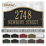 Metal Address Plaque Personalized Cast The