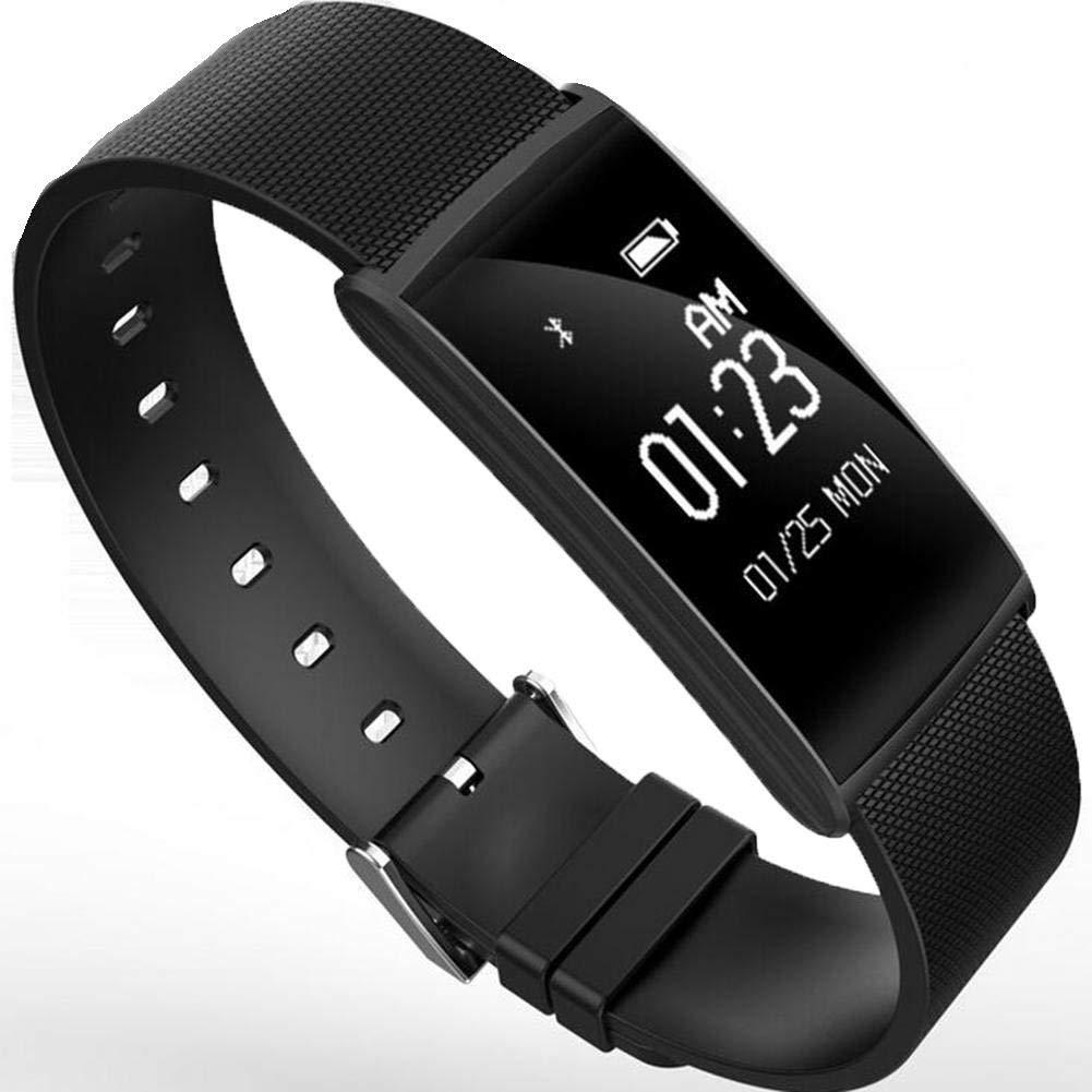 MEIDI Home Monitor per Il Fitness Monitor per Il monitoraggio del Battito Cardiaco di inseguitori di Fitness con monitoraggio della frequenza cardiaca Intelligente per Anziani, Nero